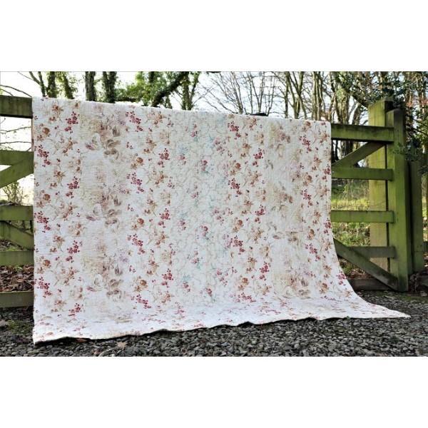 Hand sewn floral strippy Quilt. Hydrangeas  Q70