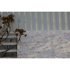 Pretty White & faded Pink floral quilt Q75