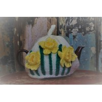 Welsh  Daffodils. Hand Knitted Tea cosy TC12