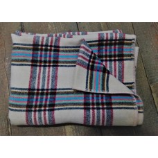 Bold bright Welsh plaid blanket CP33