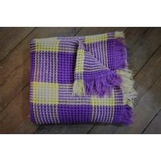 Lavender Plaid Honeycombb Quilt CPH99