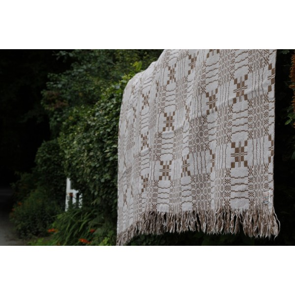 Cambrian Mills Welsh Tapestry . Chocolate & Ivory. TBV209